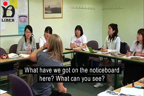 فایل ویدیویی از کلاس درس واقعی انگلیسی به لهجه امریکن