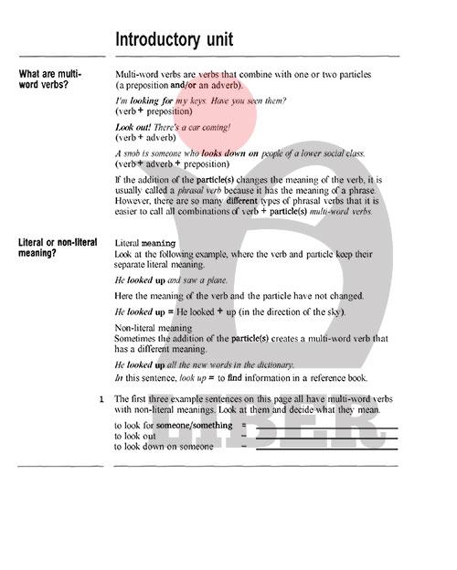 معرفی چهار نوع اصلی افعال چند قسمتی انگلیسی